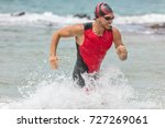 triathlon swimming man. male... | Shutterstock . vector #727269061