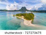 bora bora aerial view of luxury ... | Shutterstock . vector #727273675