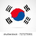 flag of the republic of korea... | Shutterstock .eps vector #727275301
