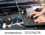 detail of a mechanic using... | Shutterstock . vector #727276279