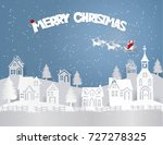 merry christmas of santa claus... | Shutterstock .eps vector #727278325
