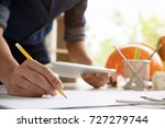 architect or engineer working... | Shutterstock . vector #727279744