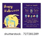 halloween party invitation with ... | Shutterstock .eps vector #727281289