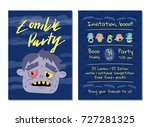 zombie party invitation with... | Shutterstock .eps vector #727281325