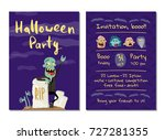 halloween party invitation with ... | Shutterstock .eps vector #727281355
