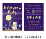 halloween party invitation with ... | Shutterstock .eps vector #727281535