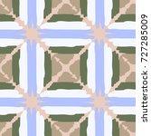 seamless checkered pattern.... | Shutterstock .eps vector #727285009
