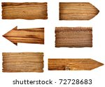 collection of wooden signs on... | Shutterstock . vector #72728683