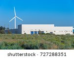 wind turbine and power station... | Shutterstock . vector #727288351