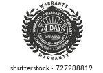 74 days warranty icon vintage... | Shutterstock .eps vector #727288819