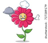 chef pink flower character...