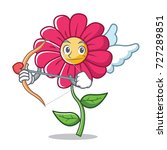 cupid pink flower character...   Shutterstock .eps vector #727289851
