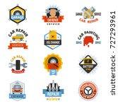 car repair service logo auto... | Shutterstock .eps vector #727293961