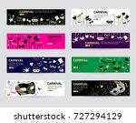 horizontal carnival web banner... | Shutterstock .eps vector #727294129