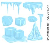ice caps snowdrifts icicles... | Shutterstock .eps vector #727294144