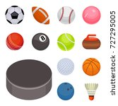 set of balls isolated... | Shutterstock .eps vector #727295005