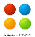 realistic 3d empty color blank... | Shutterstock .eps vector #727300981