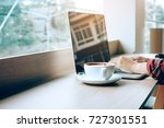 young asian man working on... | Shutterstock . vector #727301551