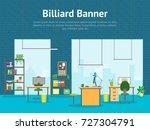 cartoon office room interior... | Shutterstock .eps vector #727304791