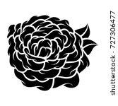 flower rose  black and white.... | Shutterstock .eps vector #727306477
