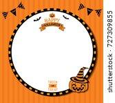 happy halloween template design ...   Shutterstock .eps vector #727309855