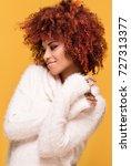 young beautiful african...   Shutterstock . vector #727313377