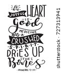 hand lettering a joyful heart... | Shutterstock .eps vector #727313941