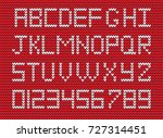 white knitted alphabet and... | Shutterstock .eps vector #727314451