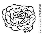 flower rose  black and white.... | Shutterstock .eps vector #727314589