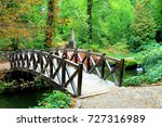 Beautiful Wooden Bridge Across...