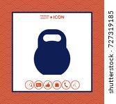 kettlebell icon | Shutterstock .eps vector #727319185