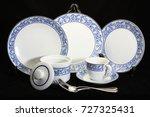 antique crockery set   set of... | Shutterstock . vector #727325431