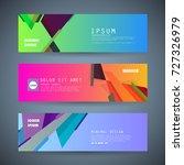 vector horizontal banner...   Shutterstock .eps vector #727326979