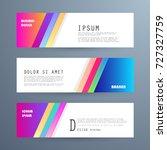 vector horizontal banner... | Shutterstock .eps vector #727327759