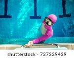 freediving in the pool   woman... | Shutterstock . vector #727329439