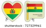 flag of bolivia. vector cut... | Shutterstock .eps vector #727329961