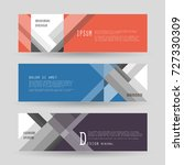 vector horizontal banner... | Shutterstock .eps vector #727330309