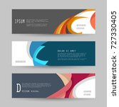 vector horizontal banner... | Shutterstock .eps vector #727330405
