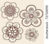 Hand Drawn Henna Mendhi Mandal...