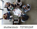 group of people brainstorming... | Shutterstock . vector #727331269