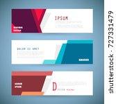 vector horizontal banner... | Shutterstock .eps vector #727331479