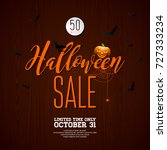 halloween sale  illustration... | Shutterstock . vector #727333234