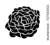 flower rose  black and white.... | Shutterstock .eps vector #727333321