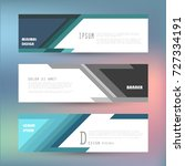 vector horizontal banner... | Shutterstock .eps vector #727334191