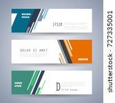 vector horizontal banner... | Shutterstock .eps vector #727335001