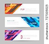 vector horizontal banner... | Shutterstock .eps vector #727335025