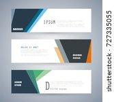 vector horizontal banner... | Shutterstock .eps vector #727335055