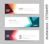 vector horizontal banner... | Shutterstock .eps vector #727336495