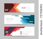 vector horizontal banner... | Shutterstock .eps vector #727336501