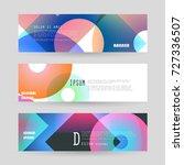vector horizontal banner... | Shutterstock .eps vector #727336507